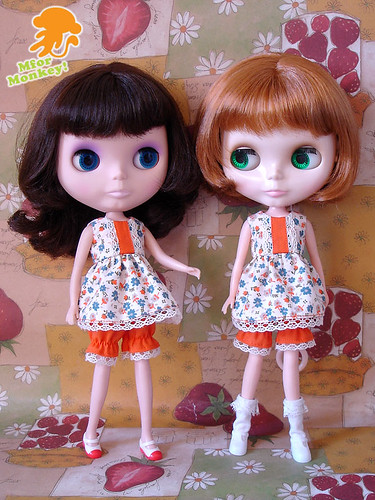 MfM Orange Baby Doll Set