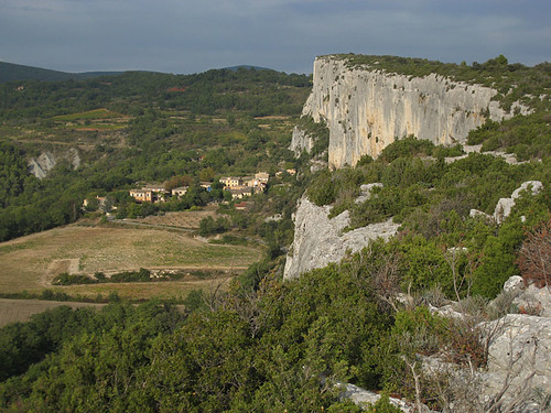 Looking back at the falaise