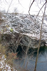 Very deep water (road_less_trvled) Tags: pennsylvania almost slate icy quarry fell chapman stripmine shale slipped i 300ftdrop verydeepwater