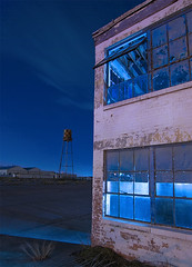 Globe Aircraft Factory (Noel Kerns) Tags: tower abandoned water night globe factory texas aircraft bluemound