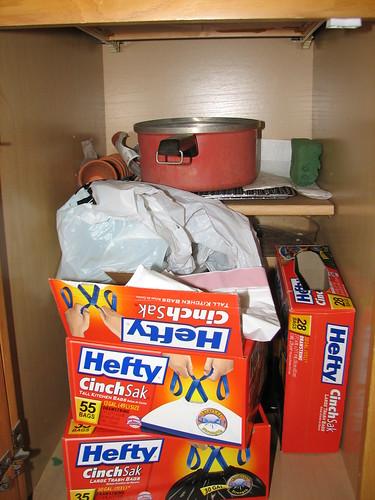garbage bag cabinet