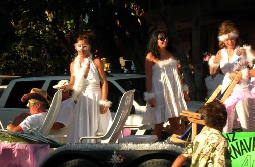 Carnival queens in Barra de Navidad