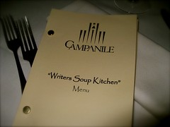 Campanile's Writers Soup Kitchen Menu. (01/16/2008)