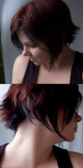 More of my hair. Like I love it or something! (.tara.) Tags: selfportrait me hair diptych athome inthebasement 365reject