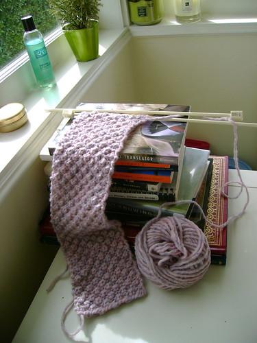 trinity stitch scarf