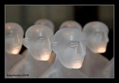 Six is a crowd (Radu Sporea) Tags: sculpture 6 macro art glass face closeup museum va squint six chin