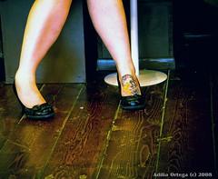 (fleurdalily) Tags: red woman black flower color feet tattoo de dead mexico skull la nikon shoes day legs dia pale muerte d300