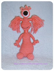 Jayla The Alien Girl (Ruby's World) Tags: pink alien crochet amigurumi