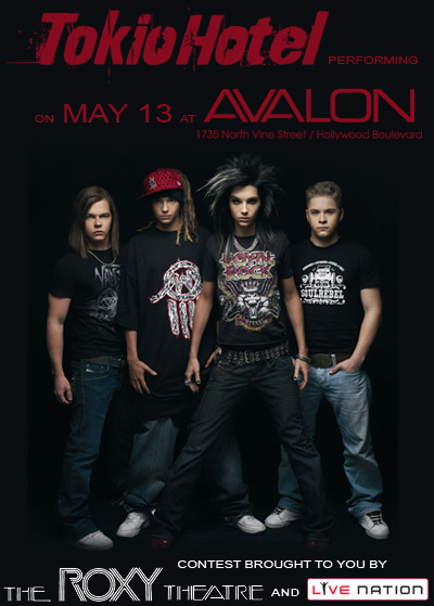 The Roxy Presents: Tokio Hotel at Avalon