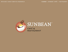 Sunbean Logo (_Untitled-1) Tags: blue sun cup coffee modern logo corporate restaurant design cafe icon bean identity research osaka network burst simple serif logotype sunbean