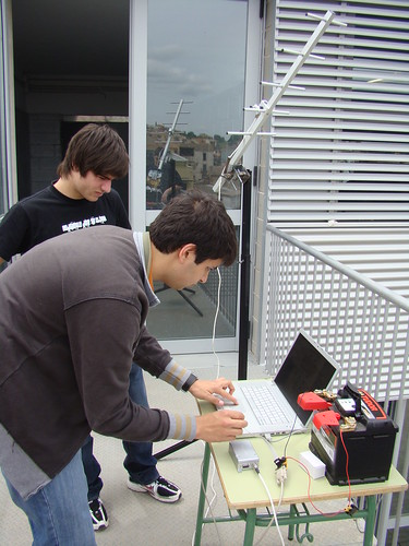 La base de recepció de les proves de ràdio a curta distància