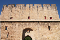 les remparts d'Aigues-Mortes (Dominique Lenoir) Tags: france tower tourism photo torre foto tour toren cité fortaleza porte fotografia saintlouis fortification turm francia torni tourisme forteresse camargue aiguesmortes festung fotografía languedocroussillon vesting fortezza southfrance croisade 30220 croisés fortificación gardette fæstningsværk dominiquelenoir