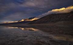 A Stormy Night At Badwater Basin (WJMcIntosh) Tags: badwaterbasin deathvalley saltflats sunset flood water rain storm mudflow winter