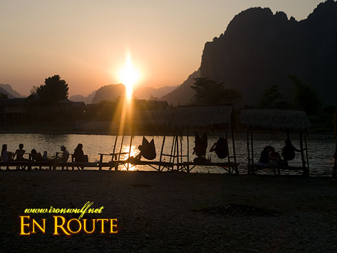 Vang Vieng Sunset Party