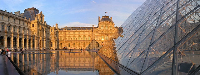 Paris - Louvre - sunset panorama