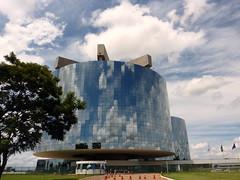 Procuradoria Geral da Repblica (Claudio Marcon) Tags: blue brazil sky azul brasil clouds reflections mirrors cu reflexos espelhos claudiomarcon