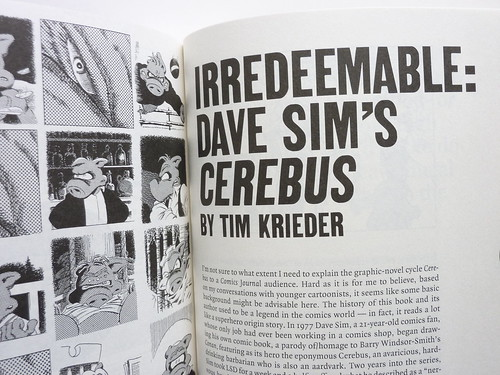 The Comics Journal #301 - Tim Kreider on Cerebus detail