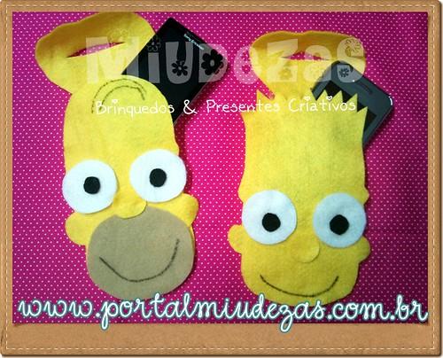 *Suporte Para Carregador de Celular* Simpsons by miudezas_miudezas