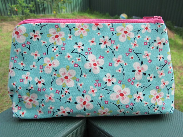 make up bag - little blossom