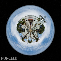 Planet Holy Family (Jim Purcell) Tags: usa photoshop tucson az topaz tinyplanet holyfamilycatholicchurch pimacounty miniplanet tucsonphotographer pentax645d smcpentaxa64545mm28