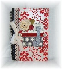Notebook for a friend (creative chaos) Tags: flower scrapbook notebook journal ribbon vintagewallpaper