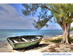 Beached Boat (CynDB) Tags: ocean travel blue sea seascape art beach nature wat