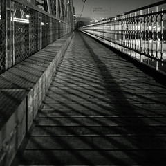 The Lines (Vincnt) Tags: bridge 6x6 zeiss prague footbridge praha line hasselblad squareformat czechrepublic queer vincentvega 503cw monochromia canoscan9950f ilfordrapidfixer agfarodinal1100 vincnt distagoncf504tfle fomafomapan400