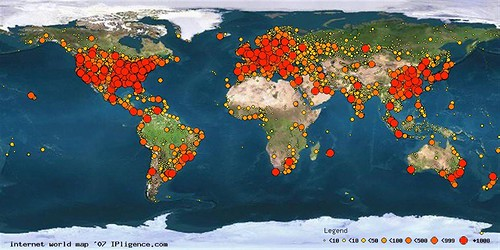 worldmap internet 2007