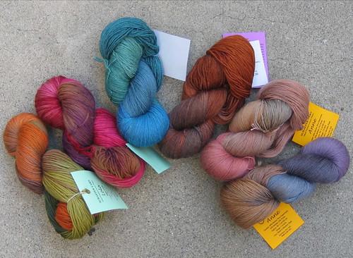 wool superwash anne knitting heather lola silk merino mohair nylon schaefer socksyarn