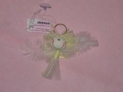 Angelito... (Piripiquia) Tags: smile yellow angel souvenirs little angeles handmade amarillo angels alas ribbon angelitos comunion hechoamano