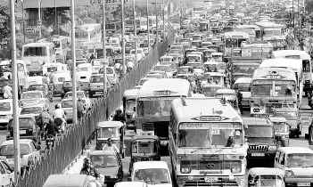 Traffic Jam in Delhi