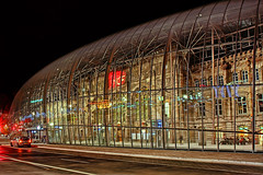 La Gare de Strasbourg (Philipp Klinger Photography) Tags: street light red france reflection glass car station metal architecture modern night photoshop shot gare central railway strasbourg alsace dome bubble soe hdr tgv sncf flickrsbest anawesomeshot impressedbeauty aplusphoto superbmasterpiece superhearts photofaceoffwinner hdratnight dcdead