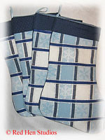 """NEW SALE PRICE!!!</p>Family Pack of 4 Blue</p>""""Damask Snowflakes""""</p>Christmas Stockings"""