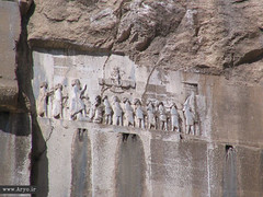 Bisotun/Behistun Inscription, Iran (Aryobarzan) Tags: monument asia iran  kermanshah mideast inscription darius  canonpowershots1is aryo    bisotun     aryobarzan