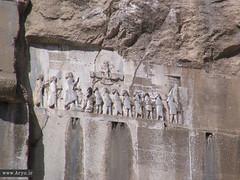 Bisotun/Behistun Inscription, Iran (Aryobarzan) Tags: monument asia iran  kermanshah mideast inscription darius  canonpowershots1is aryo    bisotun     aryobarzan