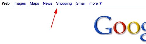 google shopping link