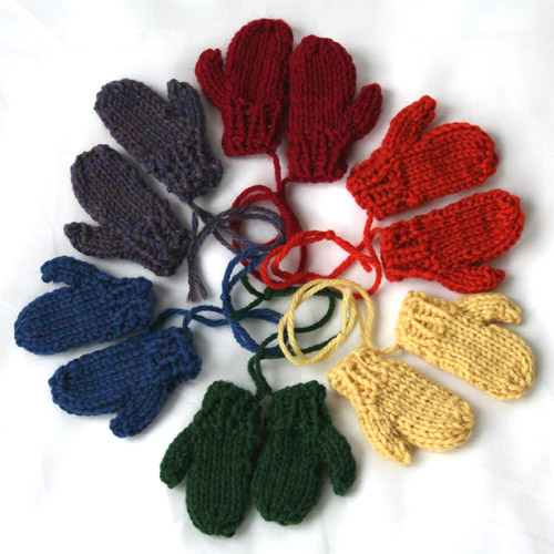 Knitting Pattern For Mini Mittens : The Potential of Yarn: Mini Mitten Ornaments