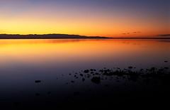 Dusk, Tasman Bay, New Zealand. (Mike NZ) Tags: travel newzealand landscape nikon fuji velvia mikehollman
