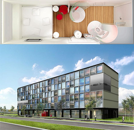 CitizenM Small Modular Hotel Rooms