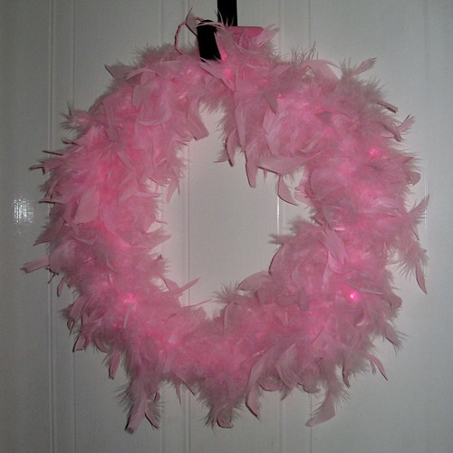 Pink And Fluffy Wreath