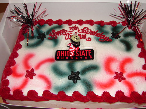 Ohio State Cake for Aidan
