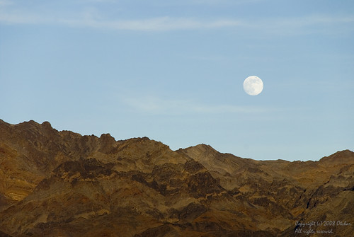 Moonrise at Death Valley