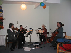 New Centre opening ceremonies   music quartet