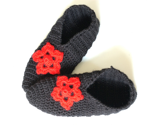 Flowered Slippers