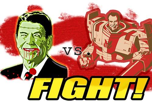 Zombie Reagan vs. Robot Nixon