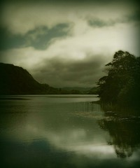 silence (hanna.bi) Tags: trees ireland summer sky lake mountains reflection water clouds landscape silent silence coincidence sligo glencar hannabi 10faves betterthangood