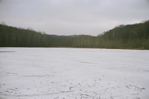 Lake Griffy, frozen