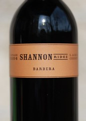 Shannon Ridge 2006 Barbera High Valley