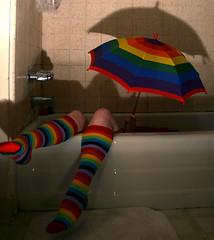 under the rainbow /part 2 (*Kristene) Tags: color feet socks rainbow thankyou much whynot inthetub xoxox kristene explored itsfriday futab feetuptakeabreak artsyfartsyfeet