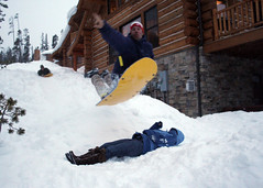 Sled Freestyle at Big Sky Resort